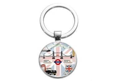 Glass Souvenir Keychain manufacturer and supplier in China