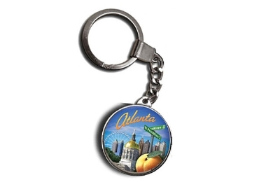 Glass Souvenir Keyring manufacturer and supplier in China