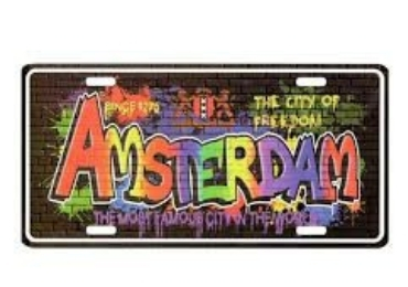 Holland Souvenir License Plate manufacturer and supplier in China