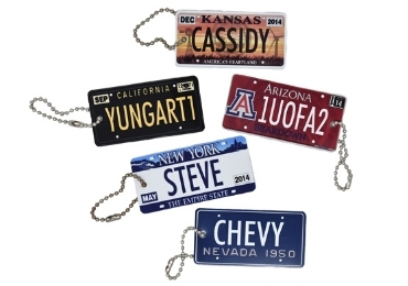License Plate Souvenir Keychain manufacturer and supplier in China
