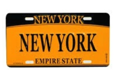 New York Souvenir License Plate manufacturer and supplier in China