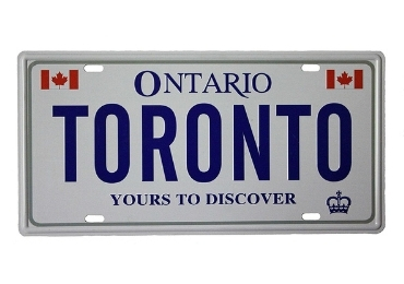 Toronto Souvenir License Plate manufacturer and supplier in China