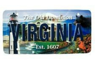 Virginia Souvenir License Plate manufacturer and supplier in China