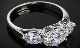 Three Stone Ring manufacturer and supplier in China