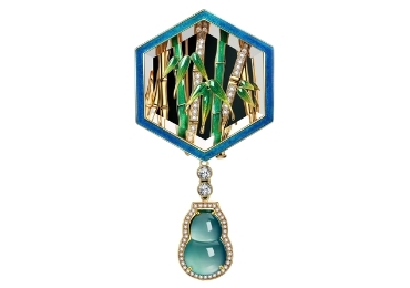 Bamboo Enamel Brooch manufacturer and supplier in China