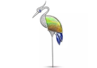 Crane Cloisonne Brooch manufacturer and supplier in China