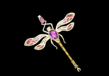 Dragonfly Enamel Brooch manufacturer and supplier in China