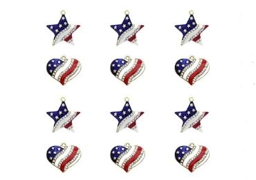 Enamel American Flag Charms manufacturer and supplier in China
