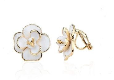 Enamel Camellia Earrings manufacturer and supplier in China