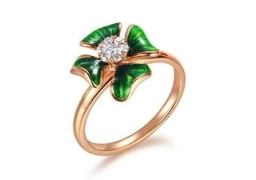 Flower Enamel Rings manufacturer and supplier in China