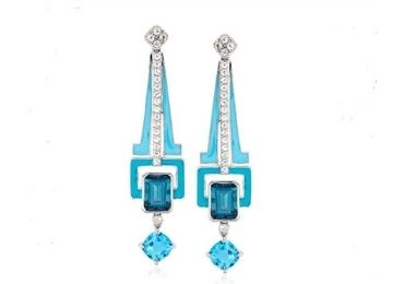 Geometry Enamel Earrings manufacturer and supplier in China