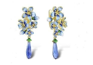 Gold Plating Enamel Earrings manufacturer and supplier in China