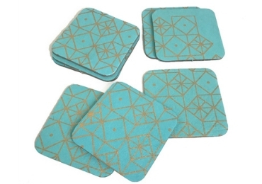 custom Golden Advertising Coaster wholesale manufacturer and supplier in China