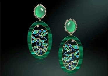 Jade Enamel Earrings manufacturer and supplier in China