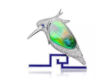 Kingfisher Enamel Brooch manufacturer and supplier in China