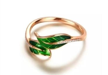 Leaves Enamel Rings manufacturer and supplier in China