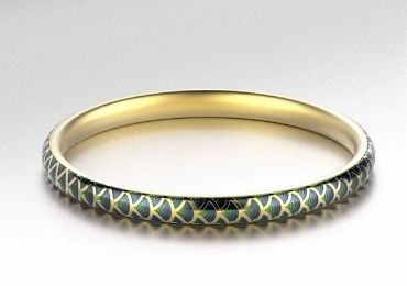 Minimalist Enamel Bangles manufacturer and supplier in China