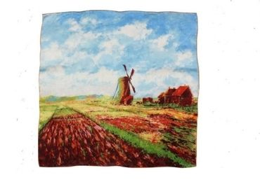 custom Monet Collectible Silk Scarf wholesale manufacturer and supplier in China
