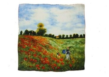 custom Monet Silk Scarf wholesale manufacturer and supplier in China