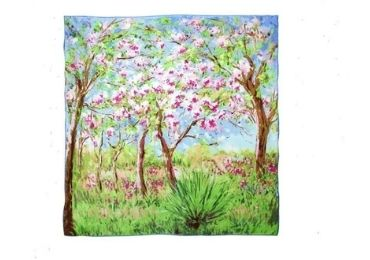 custom Painting Silk Scarf wholesale manufacturer and supplier in China