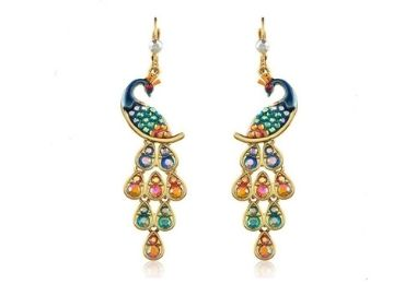 Peacock Emamel Earrings manufacturer and supplier in China