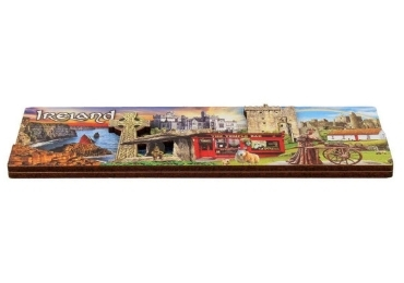 custom 3D Wooden Souvenir Ireland Magnet wholesale manufacturer and supplier in China