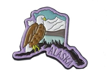 custom Alaska Enamel Pin wholesale manufacturer and supplier in China