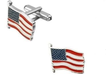 custom American Flag Cufflinks wholesale manufacturer and supplier in China