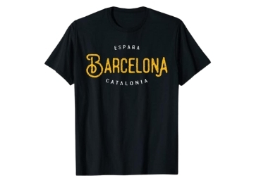 custom Barcelona Souvenir T-shirt wholesale manufacturer and supplier in China