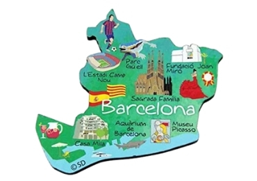 custom Barcelona Souvenir Wooden Magnet wholesale manufacturer and supplier in China