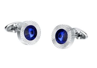 custom Blue Crystal Cufflinks wholesale manufacturer and supplier in China