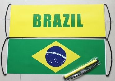 custom Brazil Fan Cheering Banner wholesale manufacturer and supplier in China