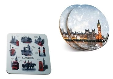 custom Britain Souvenir MDF Coaster wholesale manufacturer and supplier in China