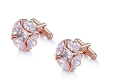 custom Cubic Zirconia Cufflinks wholesale manufacturer and supplier in China