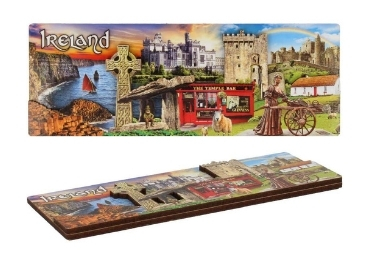 custom Dublin 3D Wooden Souvenir Magnet wholesale manufacturer and supplier in China