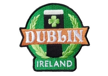 custom Dublin Souvenir Embroidery Badge wholesale manufacturer and supplier in China