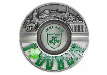 custom Dublin Souvenir Metal Ashtray wholesale manufacturer and supplier in China