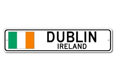 custom Dublin Souvenir Metal Sign wholesale manufacturer and supplier in China