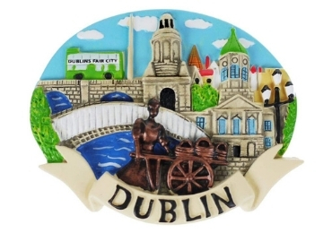 custom Dublin Souvenir Resin Magnet wholesale manufacturer and supplier in China