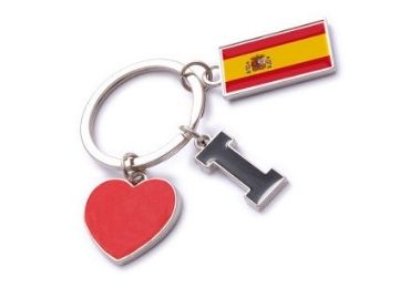 custom Enamel Spain Souvenir Keychain wholesale manufacturer and supplier in China