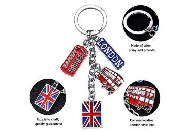 custom England Metal Souvenir Keyring wholesale manufacturer and supplier in China
