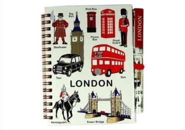 custom England Souvenir Notebook Stationery wholesale manufacturer and supplier in China