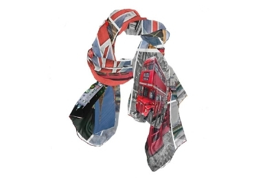 custom England Souvenir Silk Scarf wholesale manufacturer and supplier in China