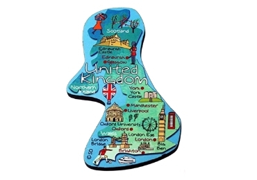 custom England Souvenir Wooden Magnet wholesale manufacturer and supplier in China