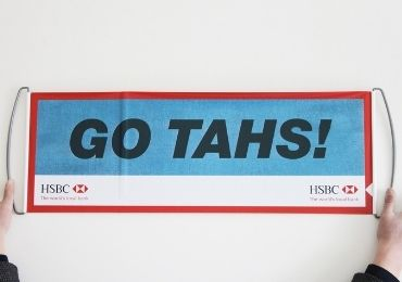 custom HSBC Handheld Banner wholesale manufacturer and supplier in China