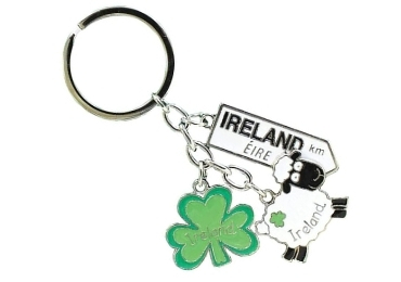 custom Ireland Clover Enamel Keychain wholesale manufacturer and supplier in China
