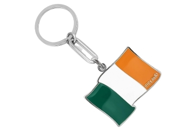 custom Ireland Flag Keychain wholesale manufacturer and supplier in China