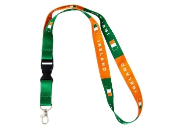 custom Ireland Flag Souvenir Lanyard wholesale manufacturer and supplier in China