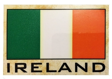 custom Ireland Flag Souvenir Magnet wholesale manufacturer and supplier in China