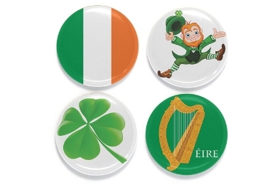 custom Ireland Souvenir Button Magnet wholesale manufacturer and supplier in China
